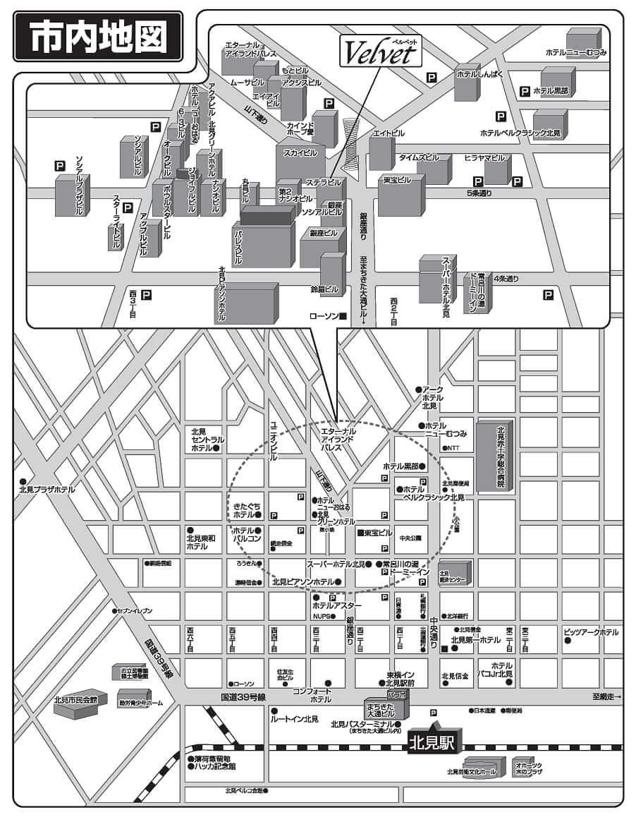 ベルベットへの地図